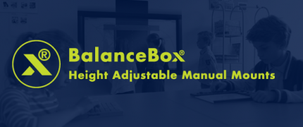 BalanceBox® | manuelle Halterungen| Height adjustable mounts