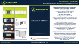 BalanceBox® Winx® - the touch screen whiteboard frame