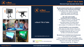 e·Box® Tilt & Tablee·Box® Tilt & Table | support motorisé | height adjustable mounts